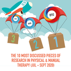 The 10 Most Discussed Pieces of Research in Manual & Physical Therapy: Jul-Sept 2020 [Infographic]