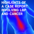 Highlights of a case report involving low back pain and cancer