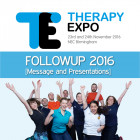 Therapy Expo Followup 2016 [Message and Presentations]
