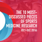 The 10 Most Discussed Pieces of Research in Sports Medicine: Oct-Dec 2016 [Infographic]