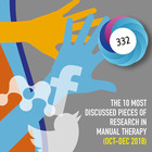 The 10 Most Discussed Pieces of Research in Manual Therapy: Oct-Dec 2018 [Infographic]