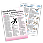 Patient Information Leaflet: Don't Fall Foul to Muscle or Bone Weakness [Printable leaflet]