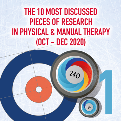 The 10 Most Discussed Pieces of Research in Manual & Physical Therapy: Oct-Dec 2020 [Infographic]