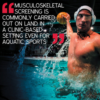 Is there a correlation between knee valgus angle during a land-based single-leg squat and a water-based vertical jump in water polo athletes