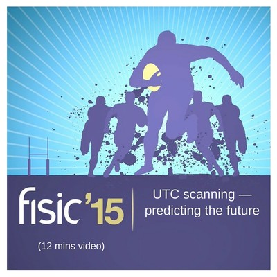 UTC scanning — predicting the future - Fisic Conference Presentation 2015 (12 mins)
