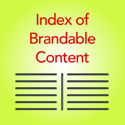 Alphabetical Index Page of All Brandable Patient Information Resources