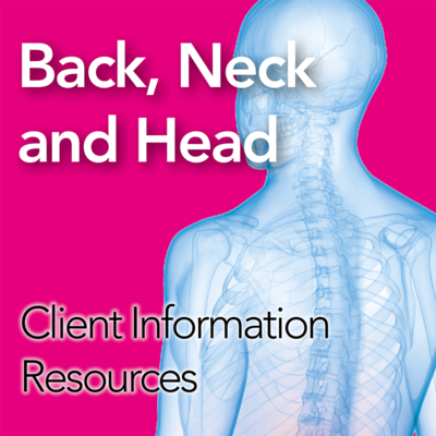 Back, Neck and Head Patient Information Resources