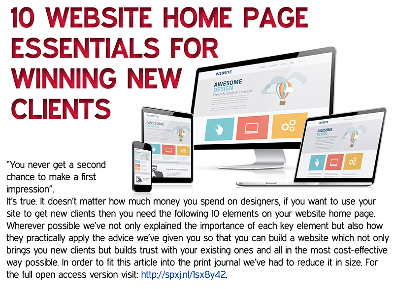 10 Website Home Page Essentials For Winning New Clients
