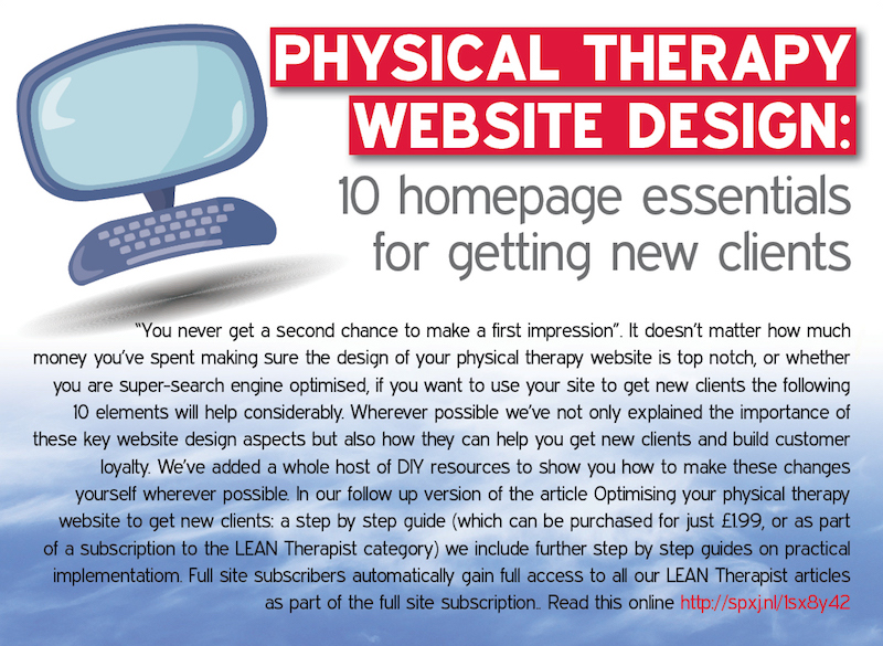 Physical Therapy Website Design 10 Home Page Essentials